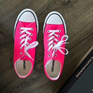 Converse Shoes - Hot pink Converse NEW IN THE BOX NEVER WORN